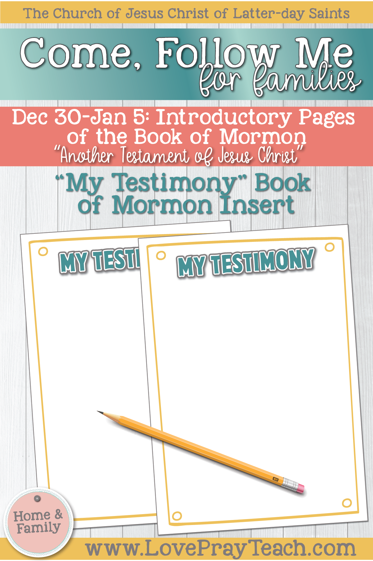 """Come, Follow Me—For Individuals and Families: Book of Mormon 2020 January Week 1: Dec 30– Jan 5 Introductory Pages of The Book of Mormon """"Another Testament of Jesus Christ"""""""