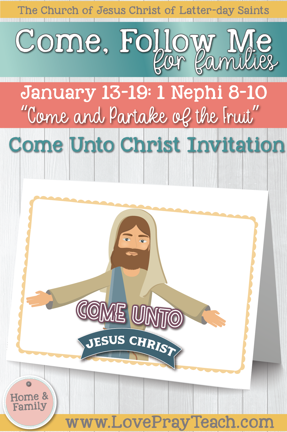 """Come, Follow Me—For Individuals and Families: Book of Mormon 2020 January Week 3: January 13-19 1 Nephi 8–10 """"Come and Partake of The Fruit"""""""