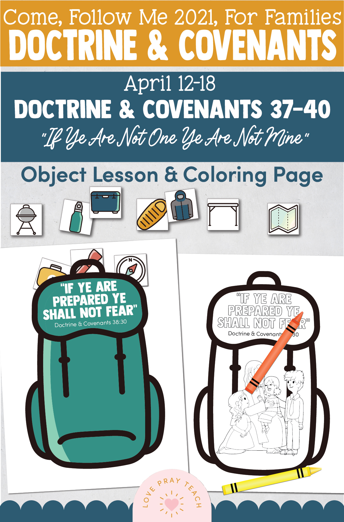"""Come, Follow Me—For Individuals and Families: Doctrine And Covenants 2021, April Week 3 Doctrine and Covenants 37-40: April 12-18,""""If Ye Are Not One Ye Are Not Mine"""