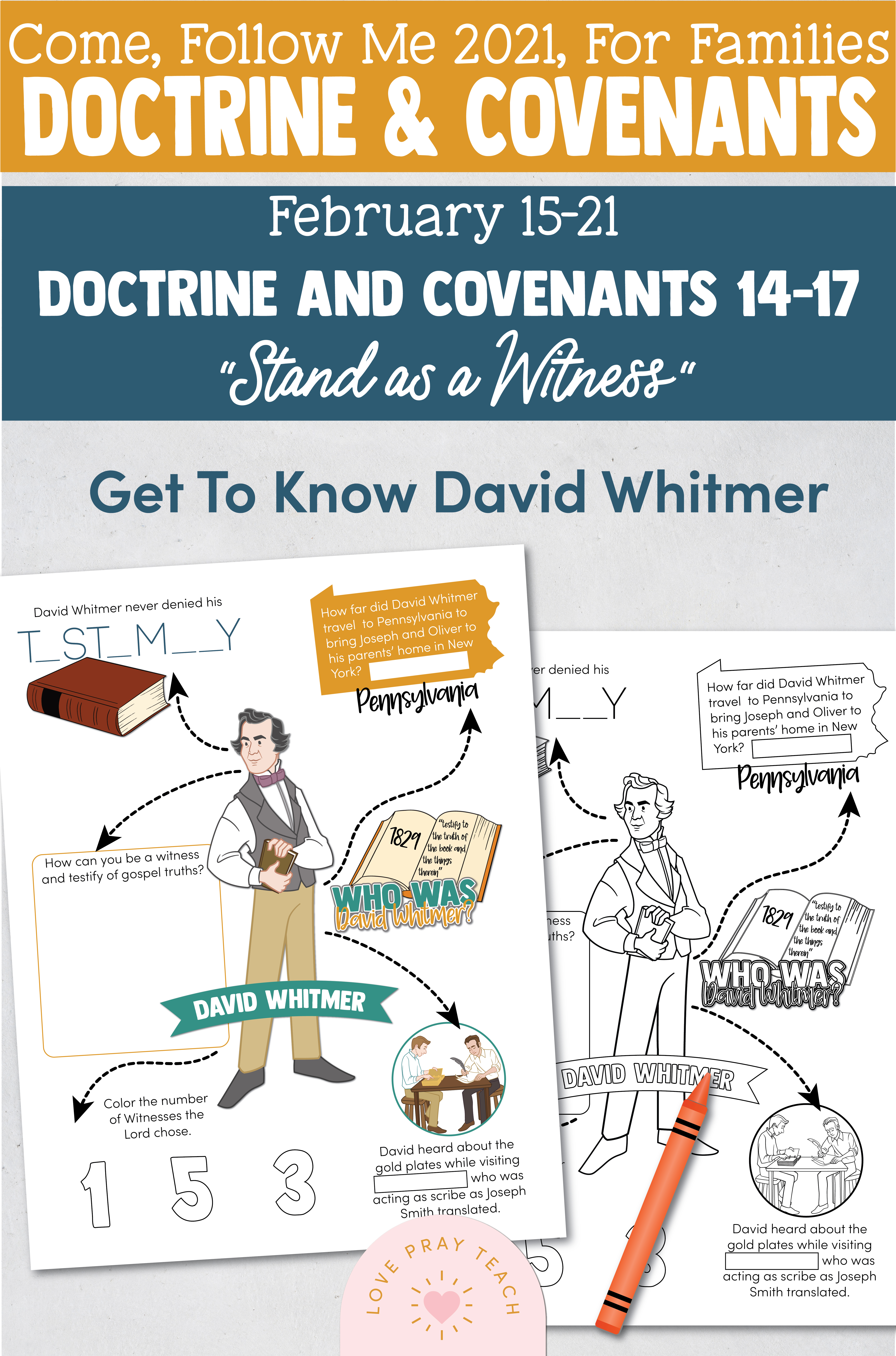 """Come, Follow Me—For Individuals and Families: Doctrine And Covenants 2021, February Week 3: February 15-21, Doctrine and Covenants 14–17, """"Stand as a Witness"""""""
