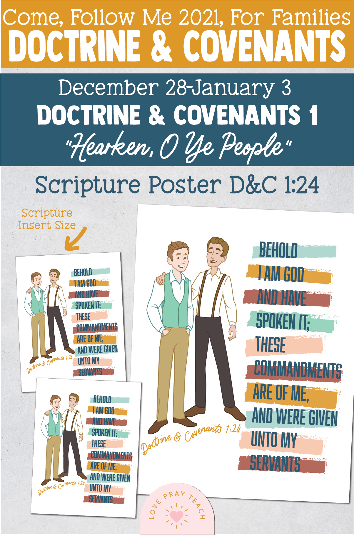 "Come, Follow Me—For Individuals and Families: Doctrine And Covenants 2021, January Week 1: December 28–January 3 ""Hearken, O Ye People"""