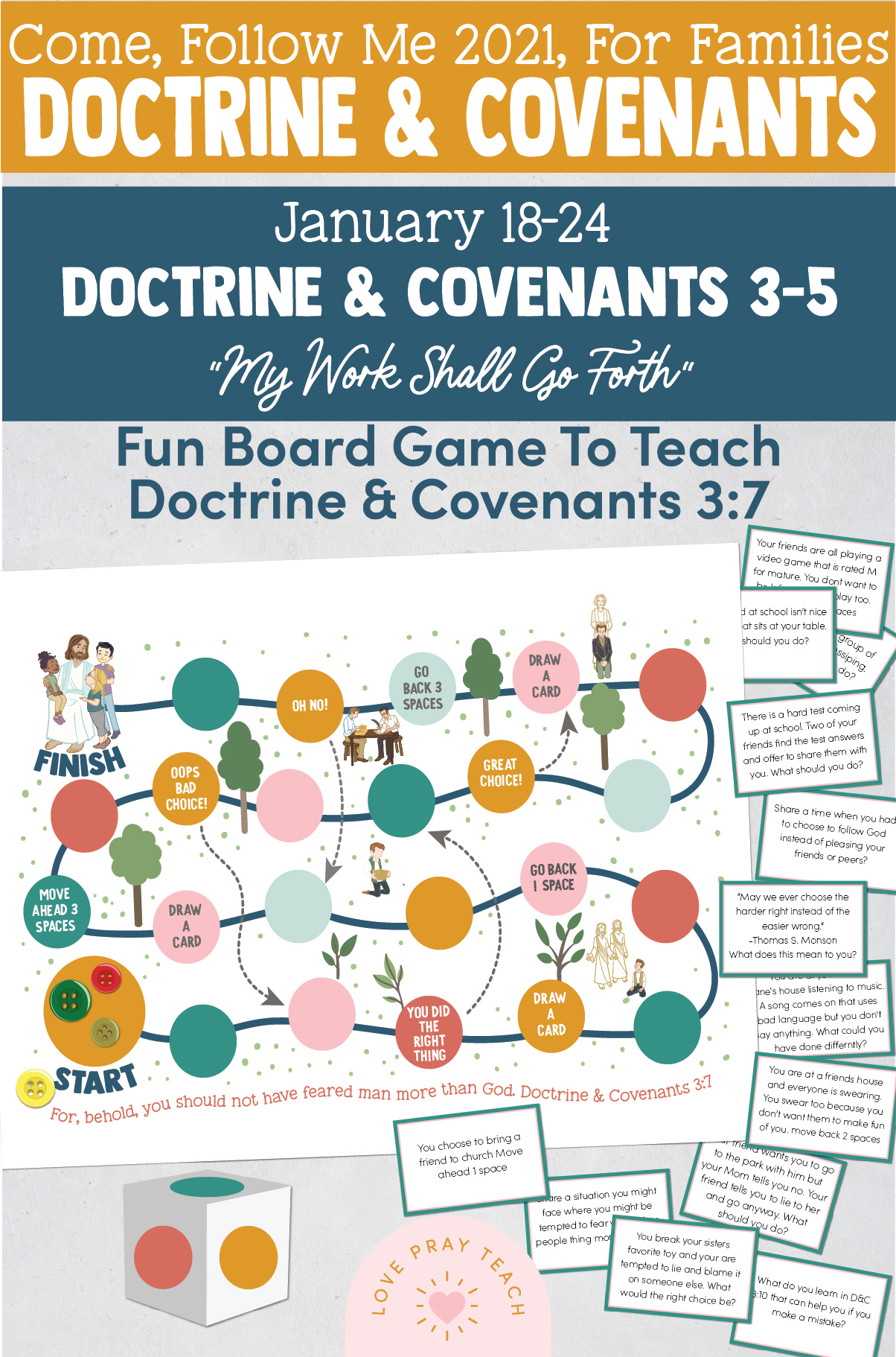Doctrine & Covenants 3-5 Family Lesson Packet