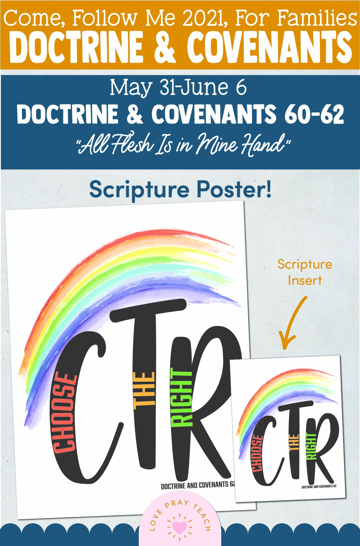 """Come, Follow Me—For Individuals and Families: Doctrine And Covenants 2021, June Week 1 Doctrine and Covenants 60-62: May 31-June 6, """"All Flesh Is in Mine Hand"""""""