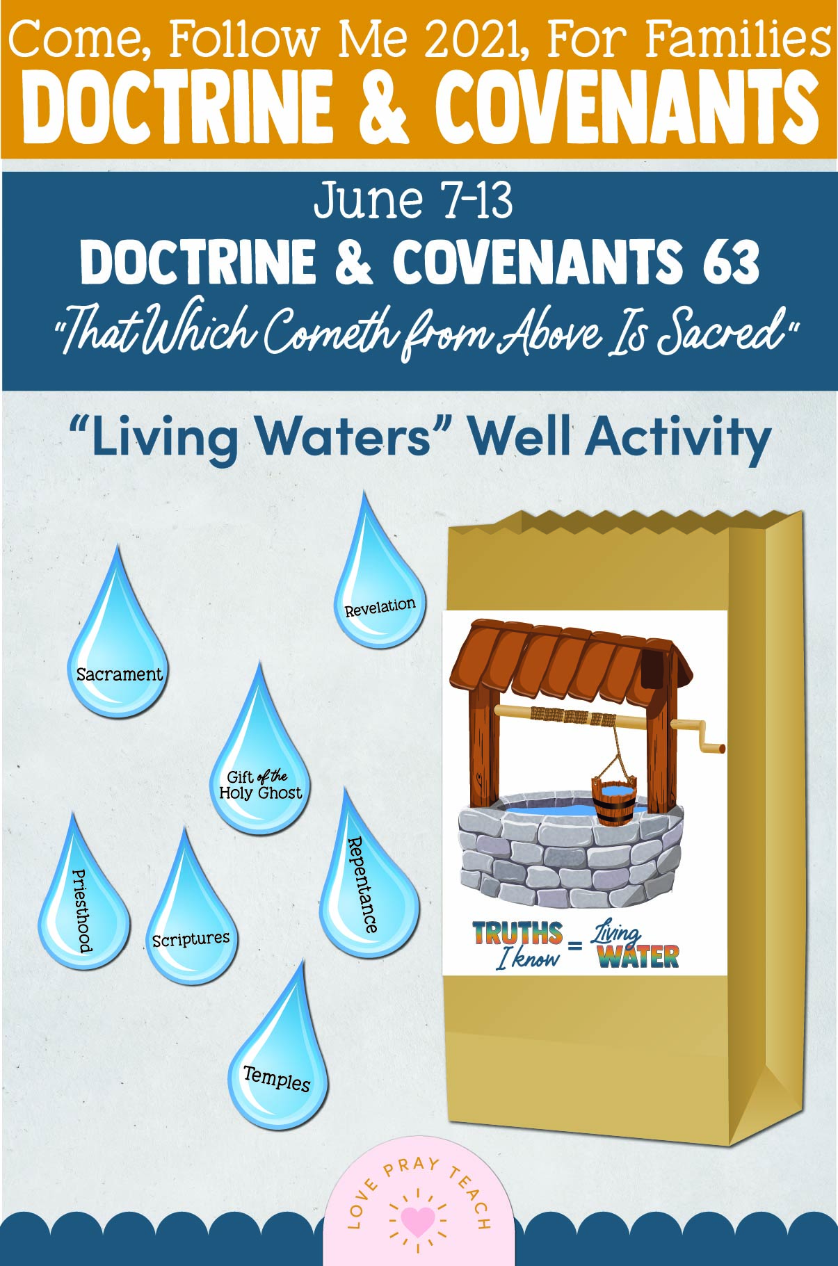 """Come, Follow Me—For Individuals and Families: Doctrine And Covenants 2021, June Week 2 Doctrine and Covenants 63: June 6-13, """"That Which Cometh from Above Is Sacred"""""""