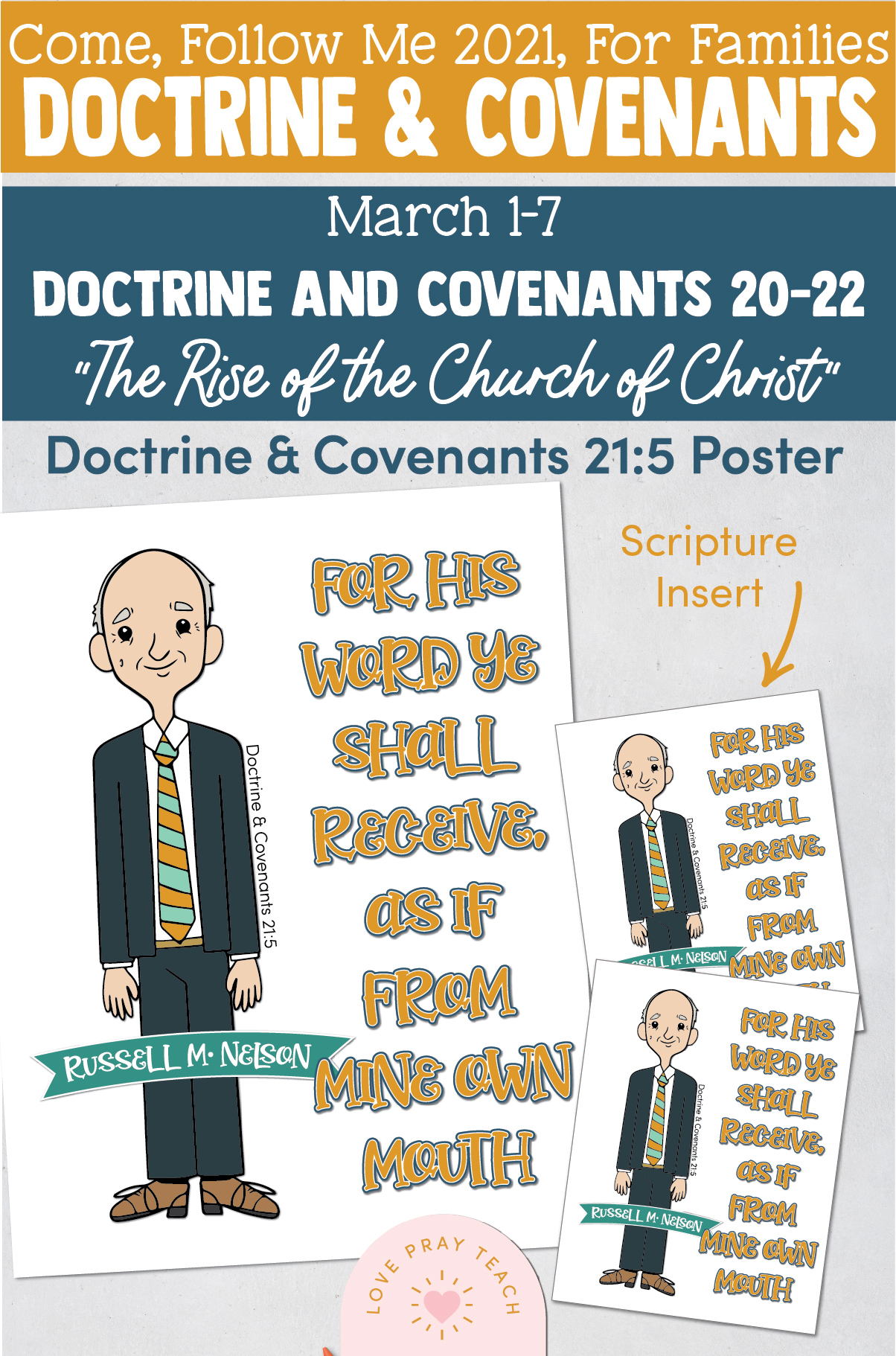 """Come, Follow Me—For Individuals and Families: Doctrine And Covenants 2021, March Week 1:March 1-7, Doctrine and Covenants 20–22, """"The Rise of the Church of Christ"""""""
