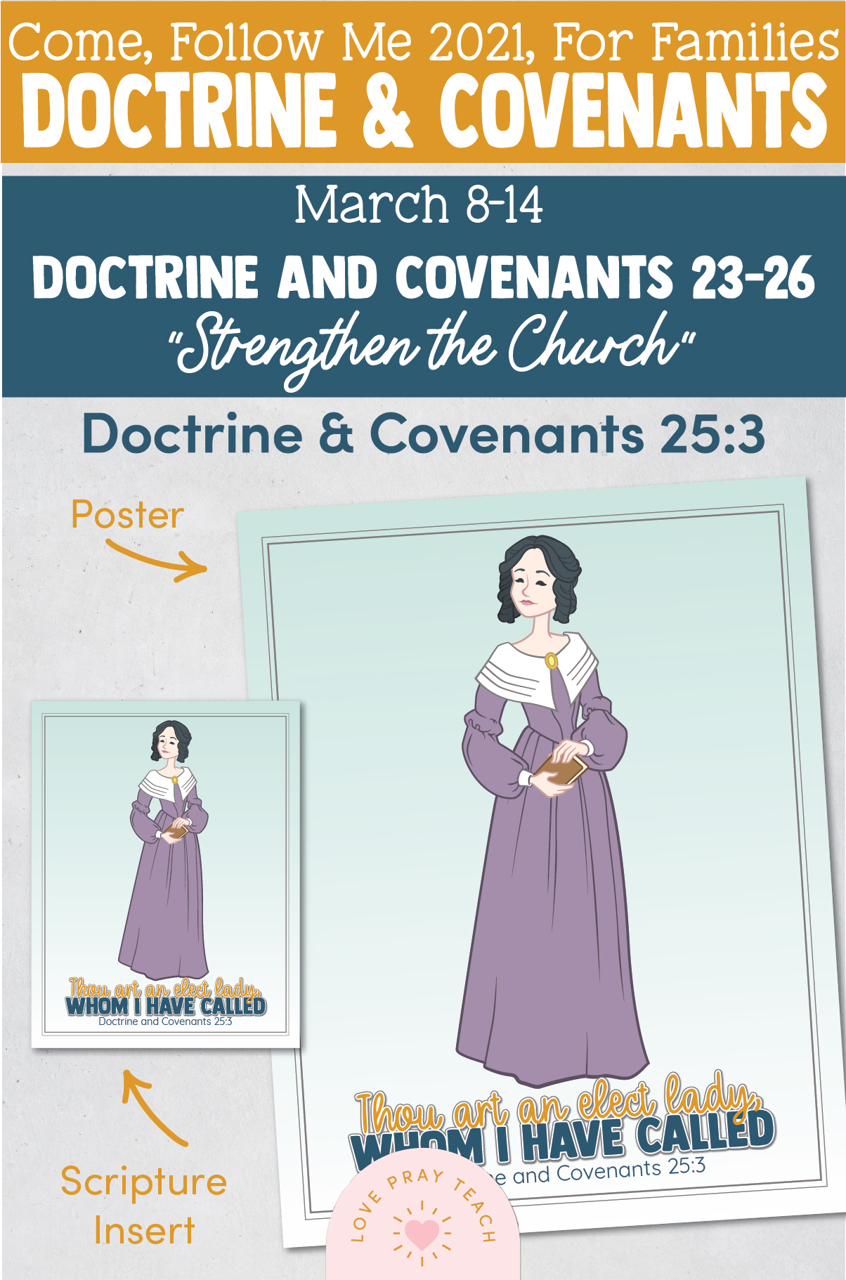 """Come, Follow Me—For Individuals and Families: Doctrine And Covenants 2021, March Week 2:March 8-14, Doctrine and Covenants 23–26, """"Strengthen the Church"""""""