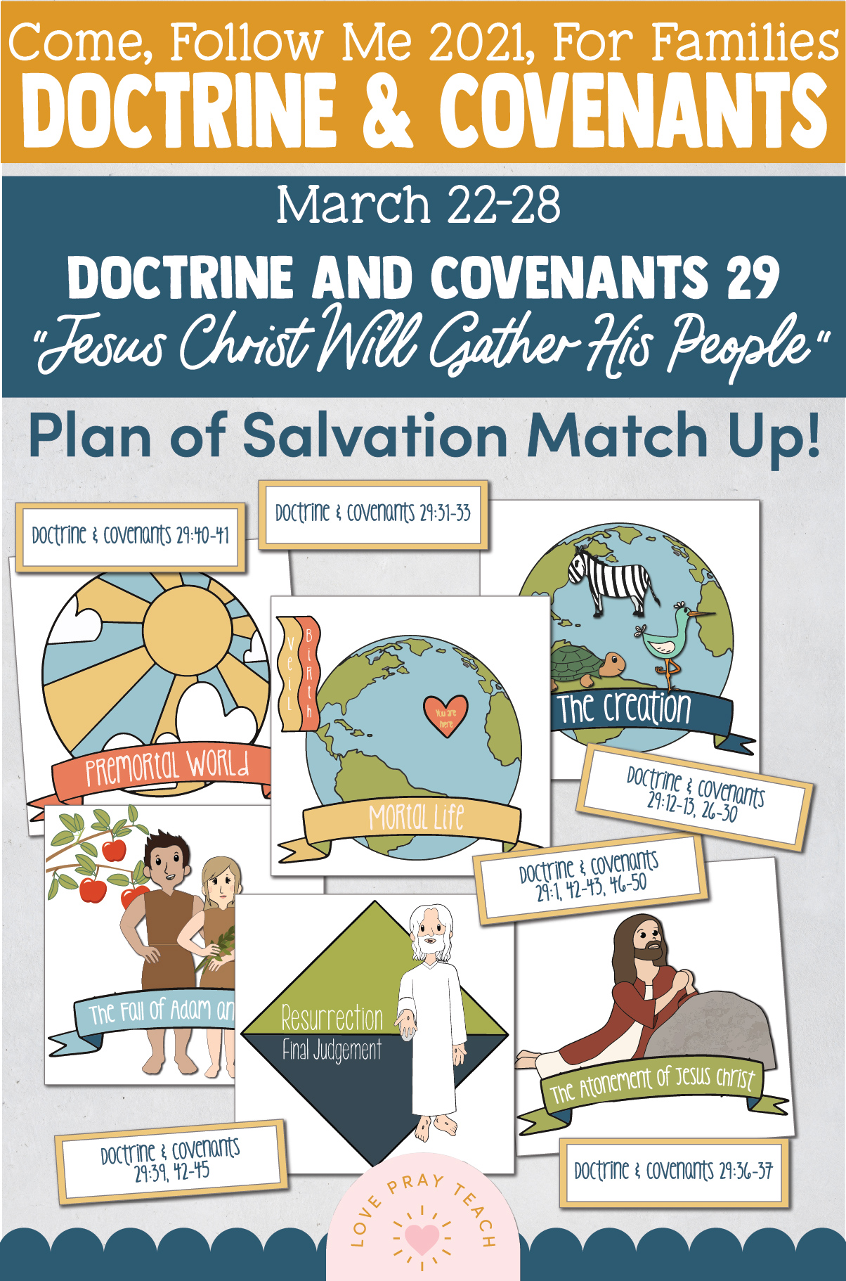 """Come, Follow Me—For Individuals and Families: Doctrine And Covenants 2021, March Week 4:March 22-28, Doctrine and Covenants 29, """"Jesus Christ Will Gather His People"""""""