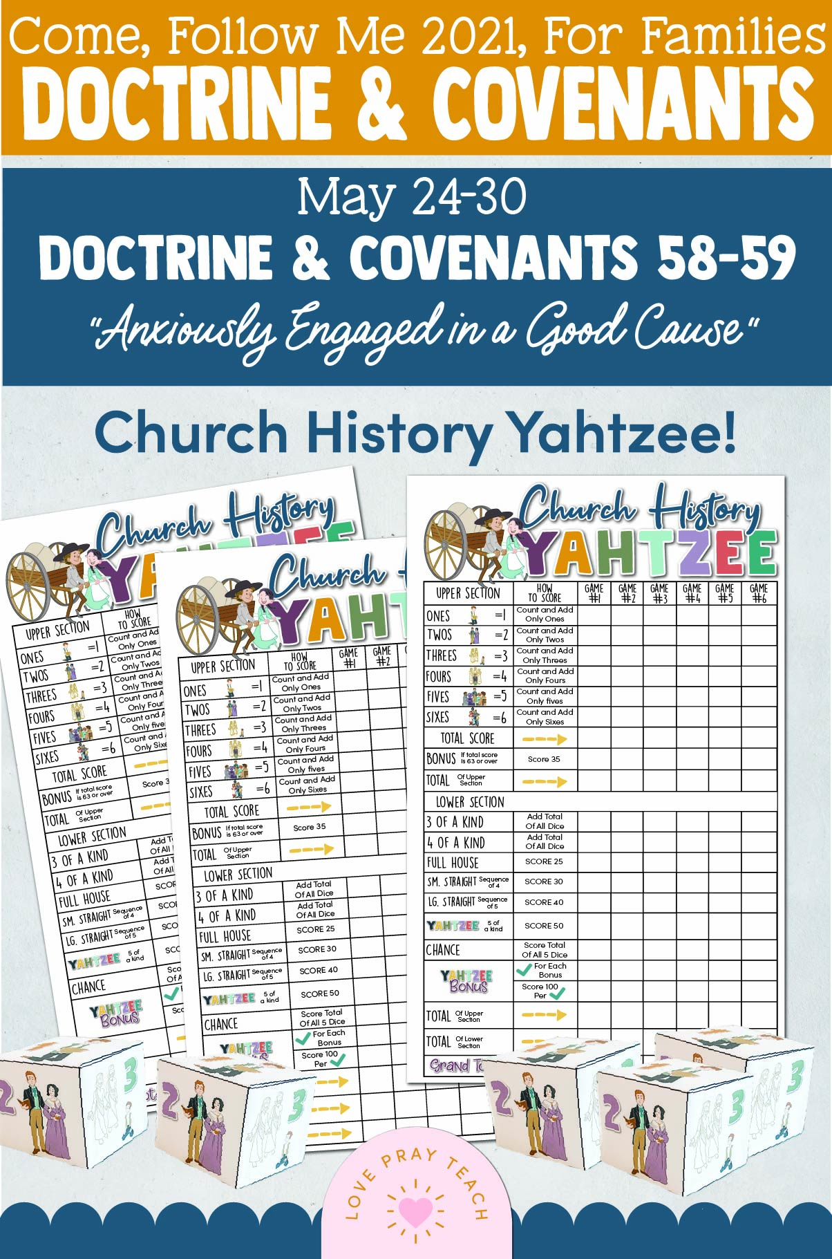 """Come, Follow Me—For Individuals and Families: Doctrine And Covenants 2021, May Week 5 Doctrine and Covenants 58-59: May 24-30, """"Anxiously Engaged in a Good Cause"""""""