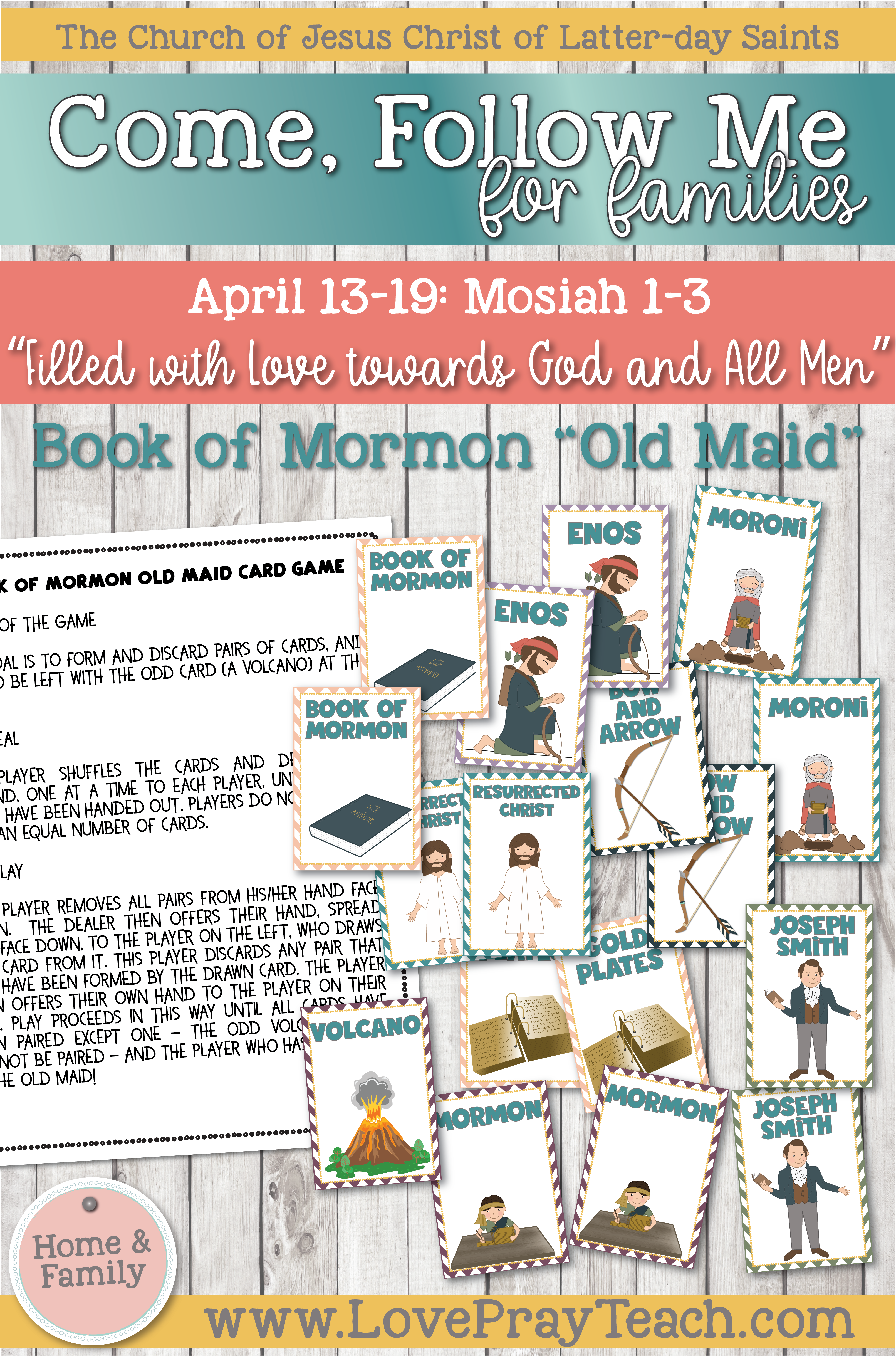 """Come, Follow Me—For Individuals and Families: Book of Mormon 2020 -April Week 3 - April 13–16 Mosiah 1-3""""Filled with Love towards God and All Men"""""""