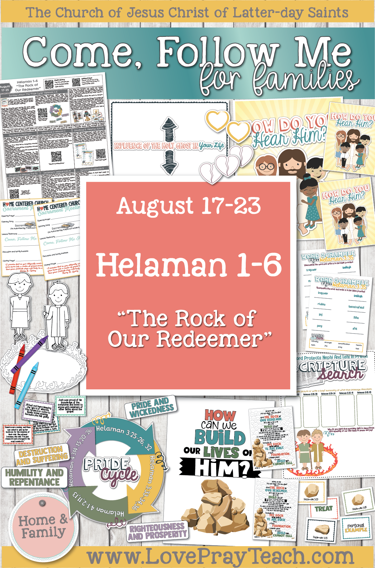 """Come, Follow Me—For Individuals and Families: Book of Mormon 2020 -August Week 4 - August 16-23 Helaman 1-6 """"The Rock of Our Redeemer"""""""