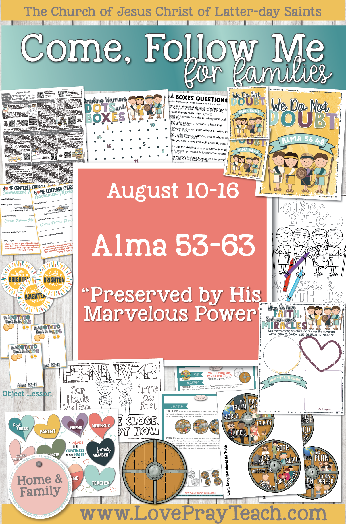 "Come, Follow Me—For Individuals and Families: Book of Mormon 2020 -August Week 3 - August 10-16 Alma 53-63""Preserved by His Marvelous Power"""