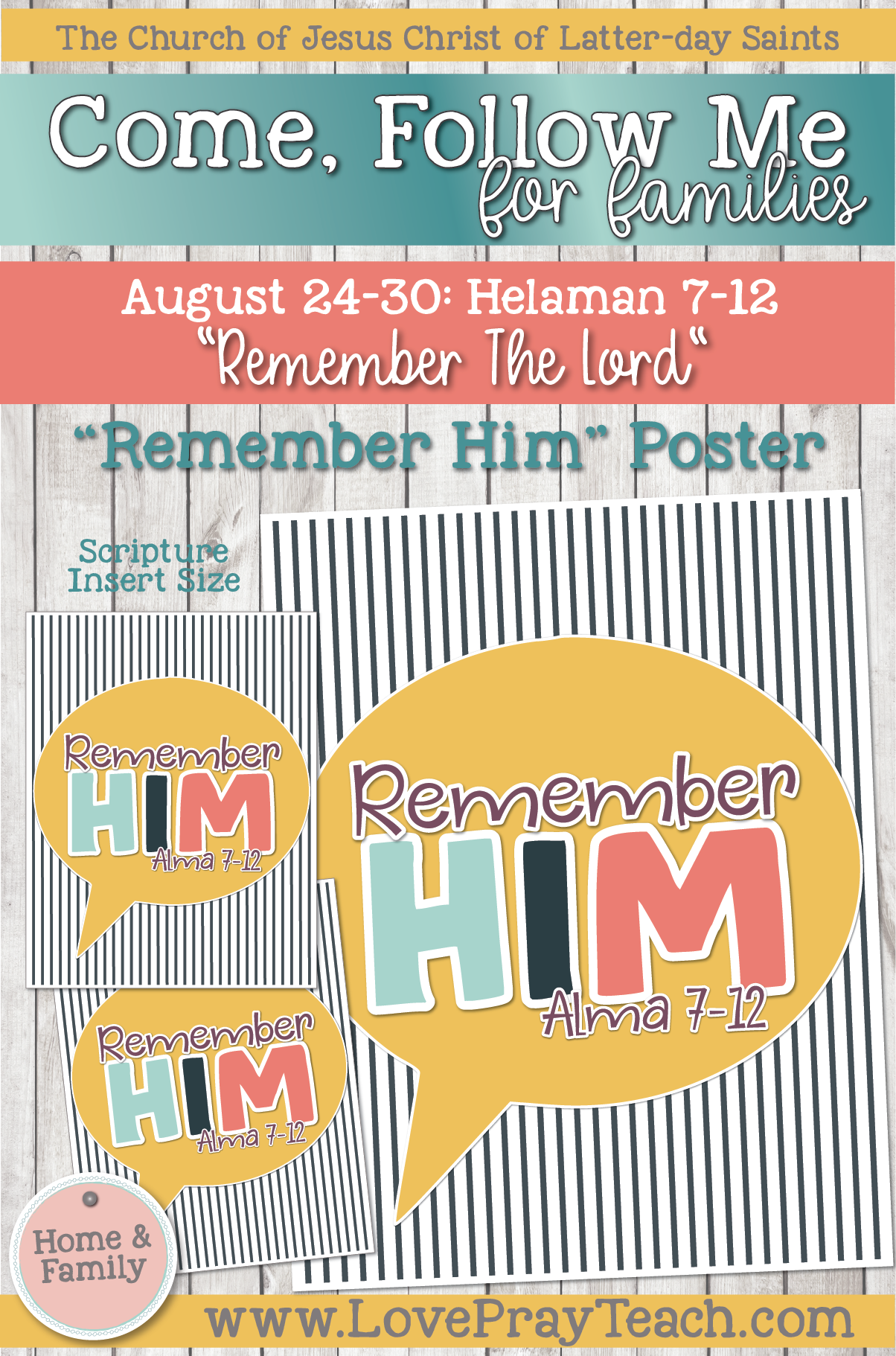 """Come, Follow Me—For Individuals and Families: Book of Mormon 2020 -August Week 5 - August 24-30 Helaman 7-12 """"Remember the Lord"""""""