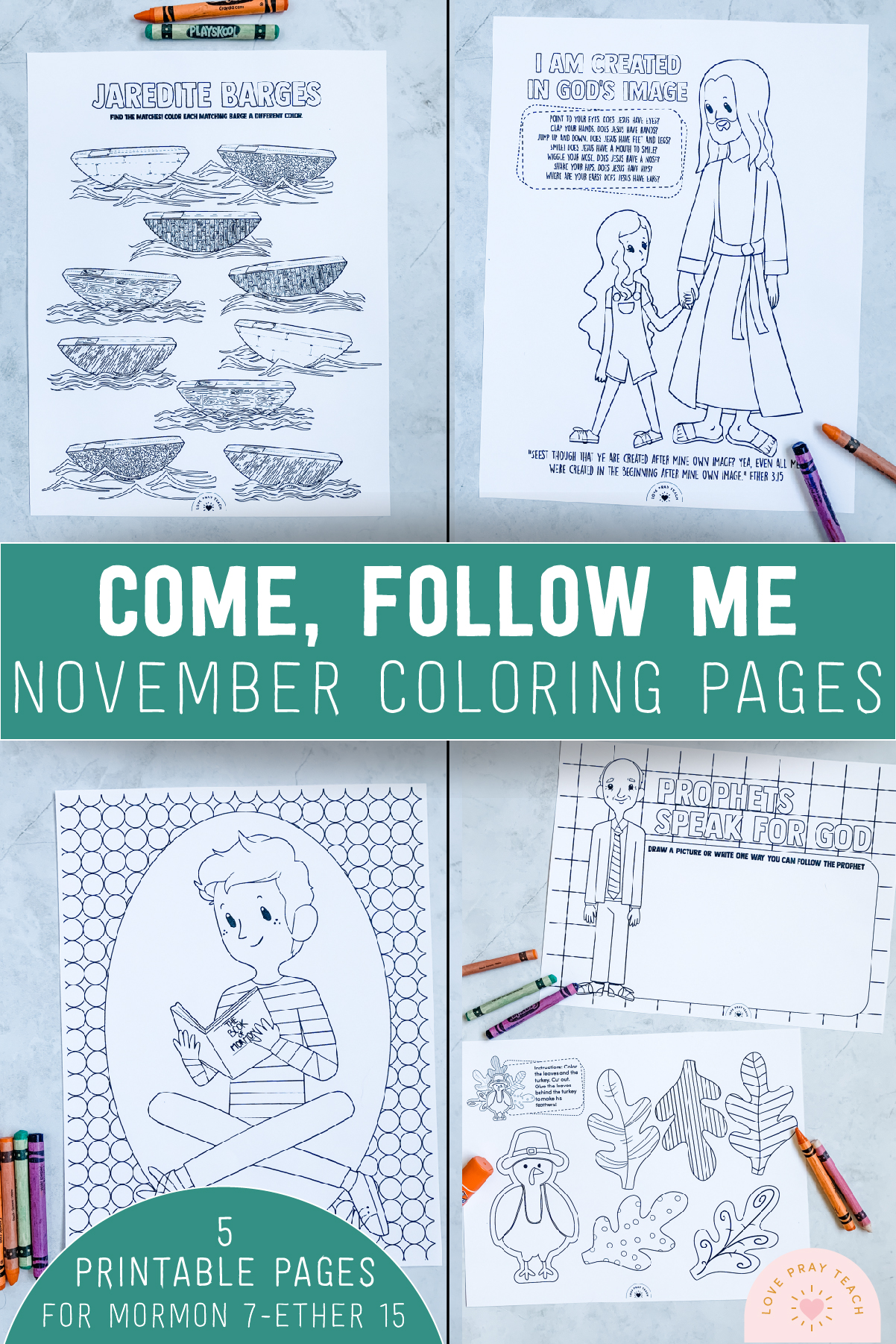 November 2020 Come Follow Me Coloring Pages www.LovePrayTeach.com