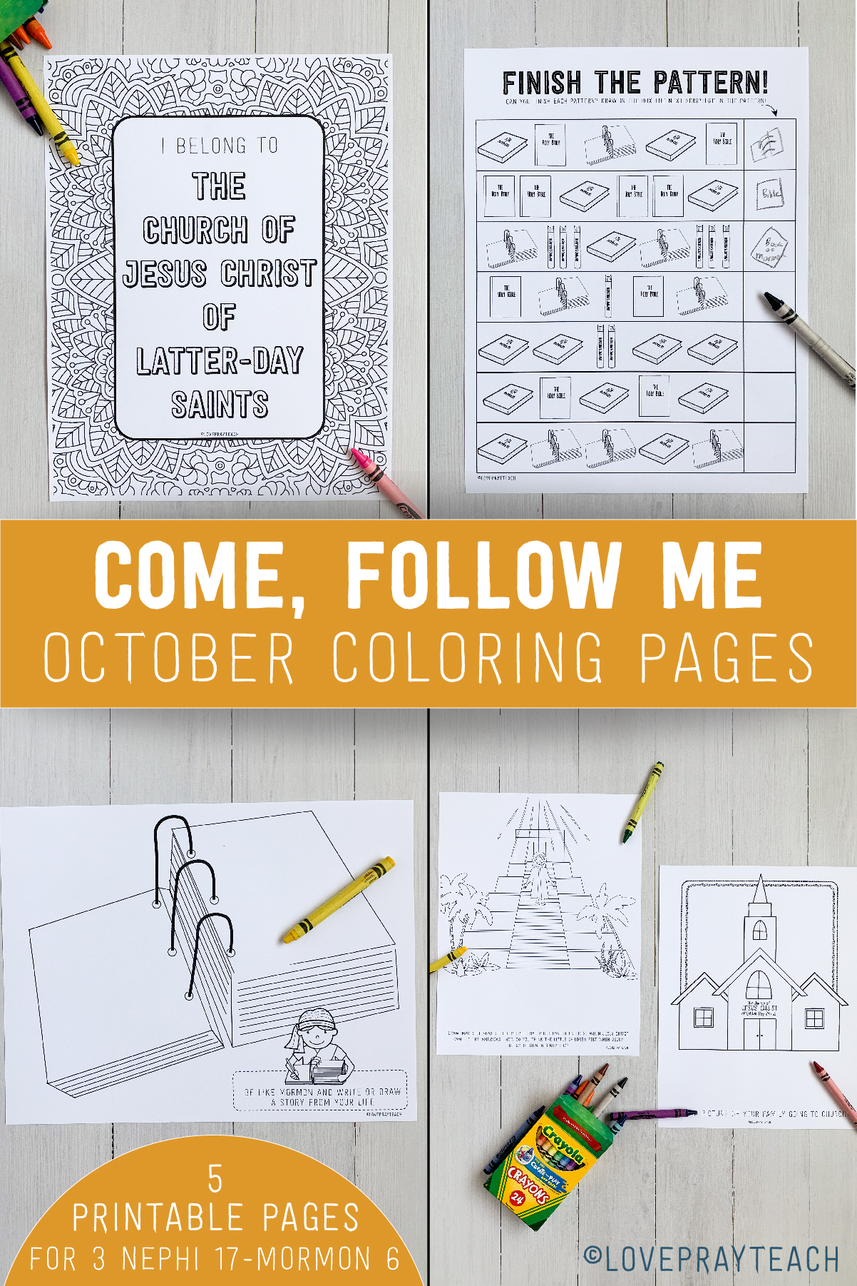 October 2020 Book of Mormon Coloring Pages www.LovePrayTeach.com