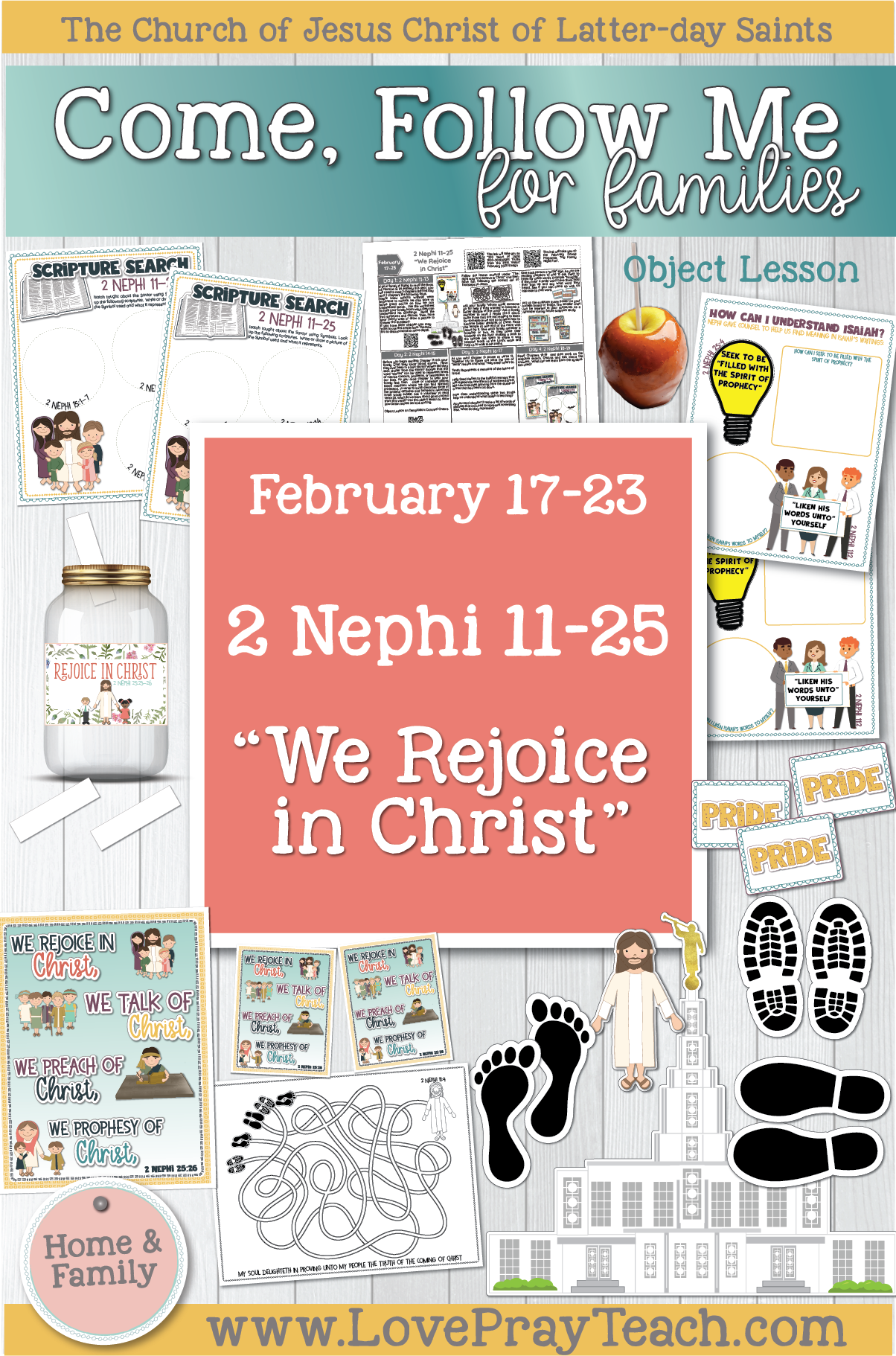 """Come, Follow Me—For Individuals and Families: Book of Mormon 2020 February Week 4: February 17–23 2 Nephi 11–25 """"We Rejoice in Christ"""""""