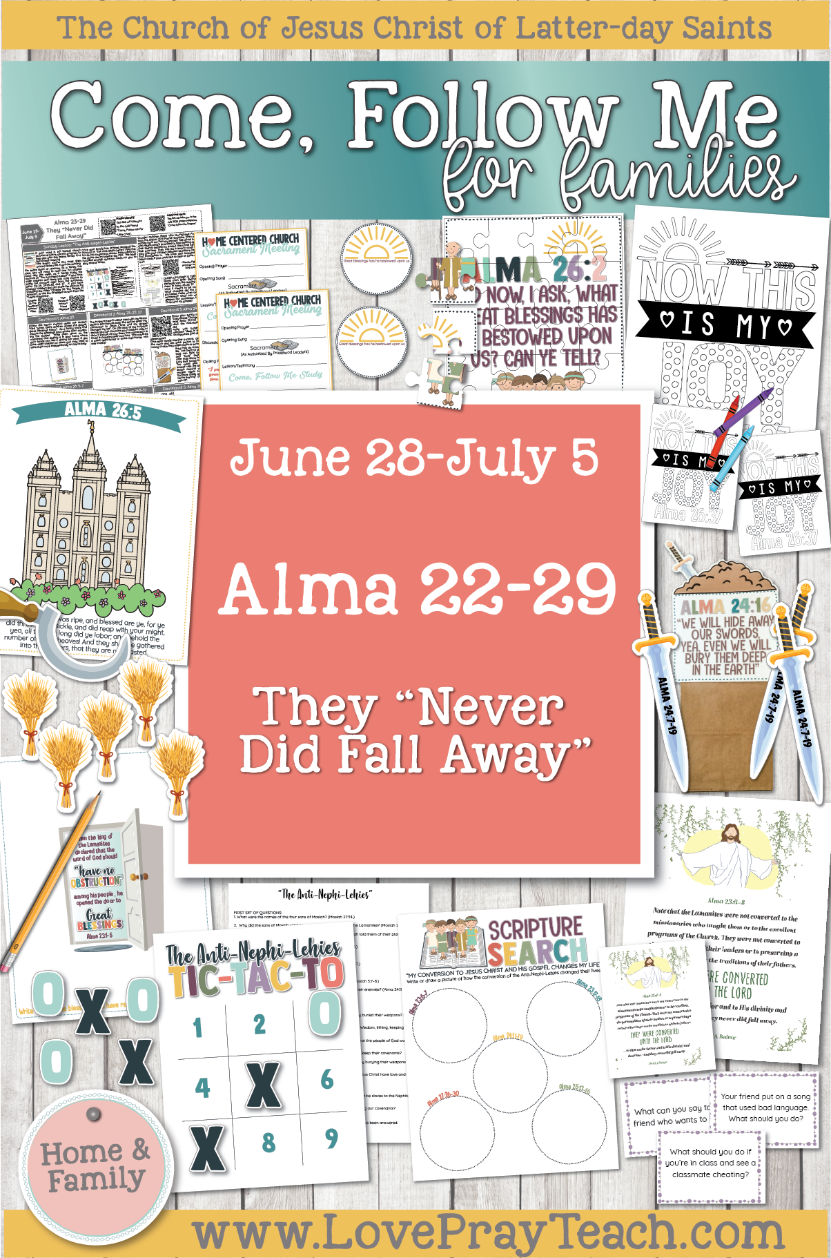 "Come, Follow Me—For Individuals and Families: Book of Mormon 2020 -July Week 1 -June 29–July 5 Alma 23-29 They ""Never Did Fall Away"""