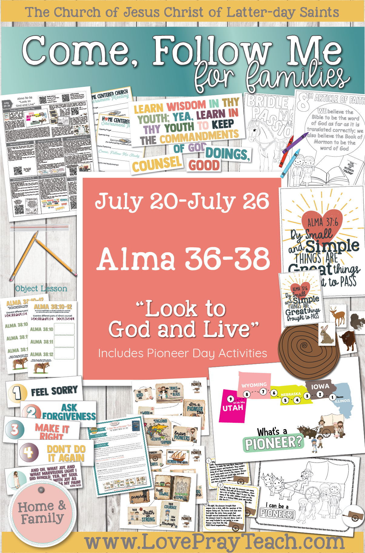 """Come, Follow Me—For Individuals and Families: Book of Mormon 2020 -July Week 4 -July 20-26 Alma 36-38 """"Look To God and Live"""""""