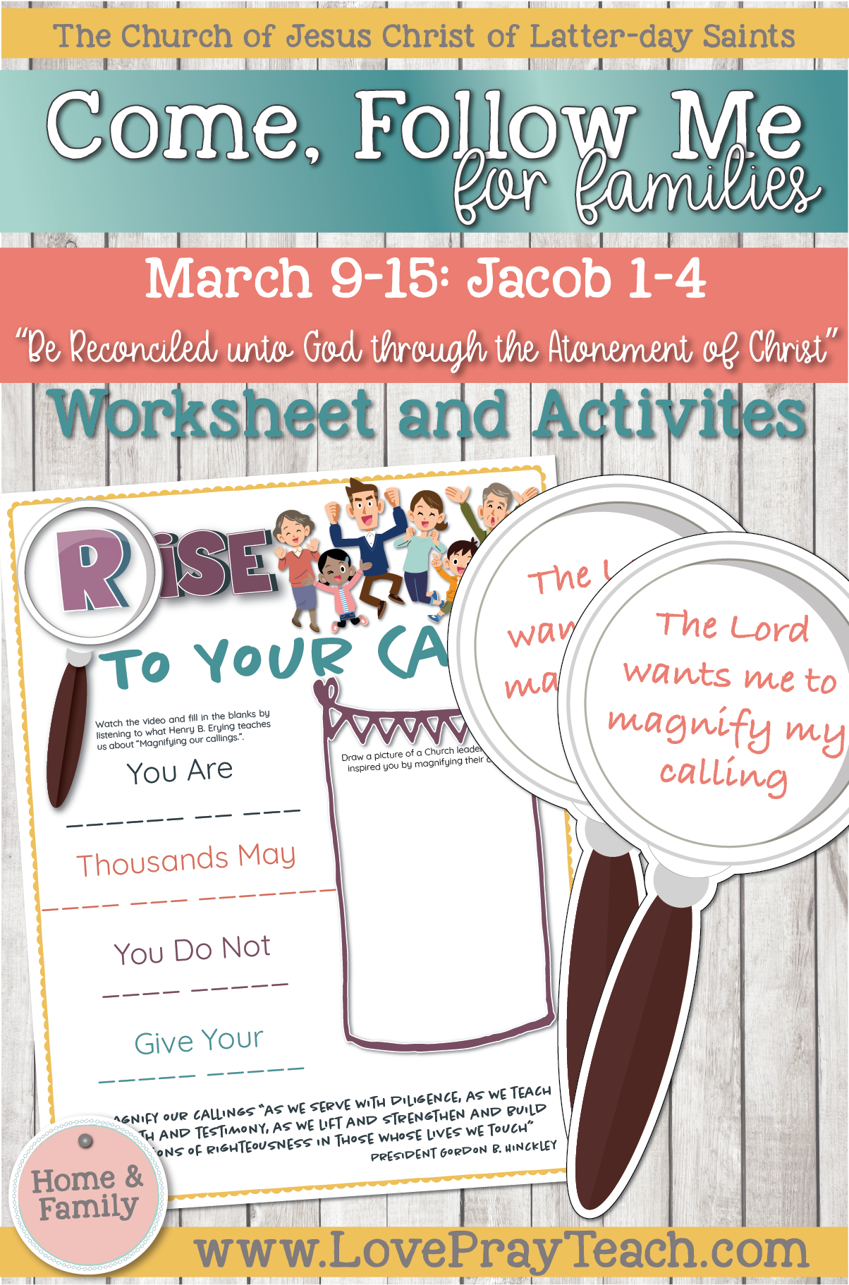 """Come, Follow Me—For Individuals and Families: Book of Mormon 2020 March Week 3: March 9–15 Jacob 1-4 """"Be Reconciled unto God through the Atonement of Christ"""""""