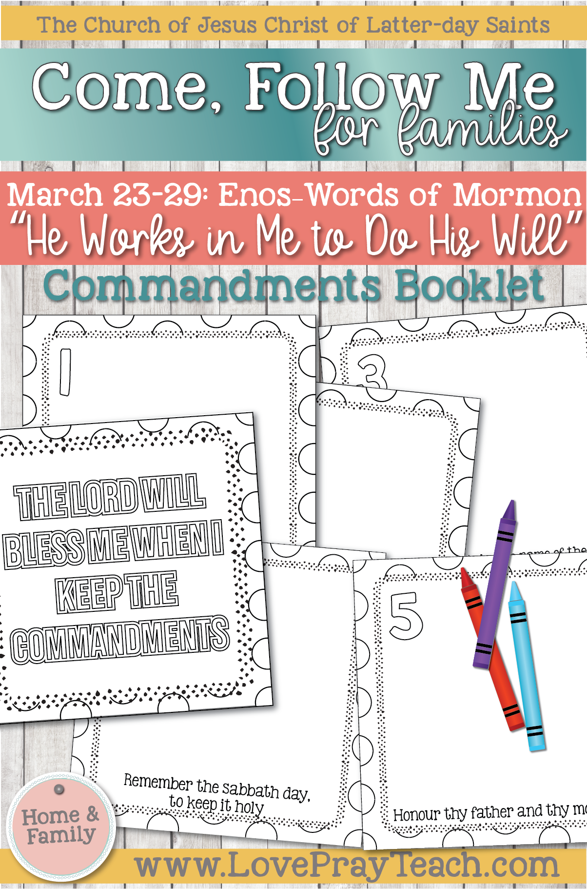 """Book of Mormon 2020 - March Week 5 - March 23–29 Enos–Words of Mormon """"He Works in Me to Do His Will"""""""