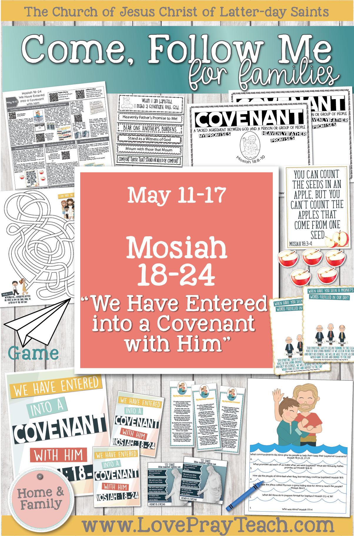 """Come, Follow Me—For Individuals and Families: Book of Mormon 2020 -May Week 3 -May 11– 17 Mosiah 18-24 """"We Have Entered into a Covenant with Him"""""""
