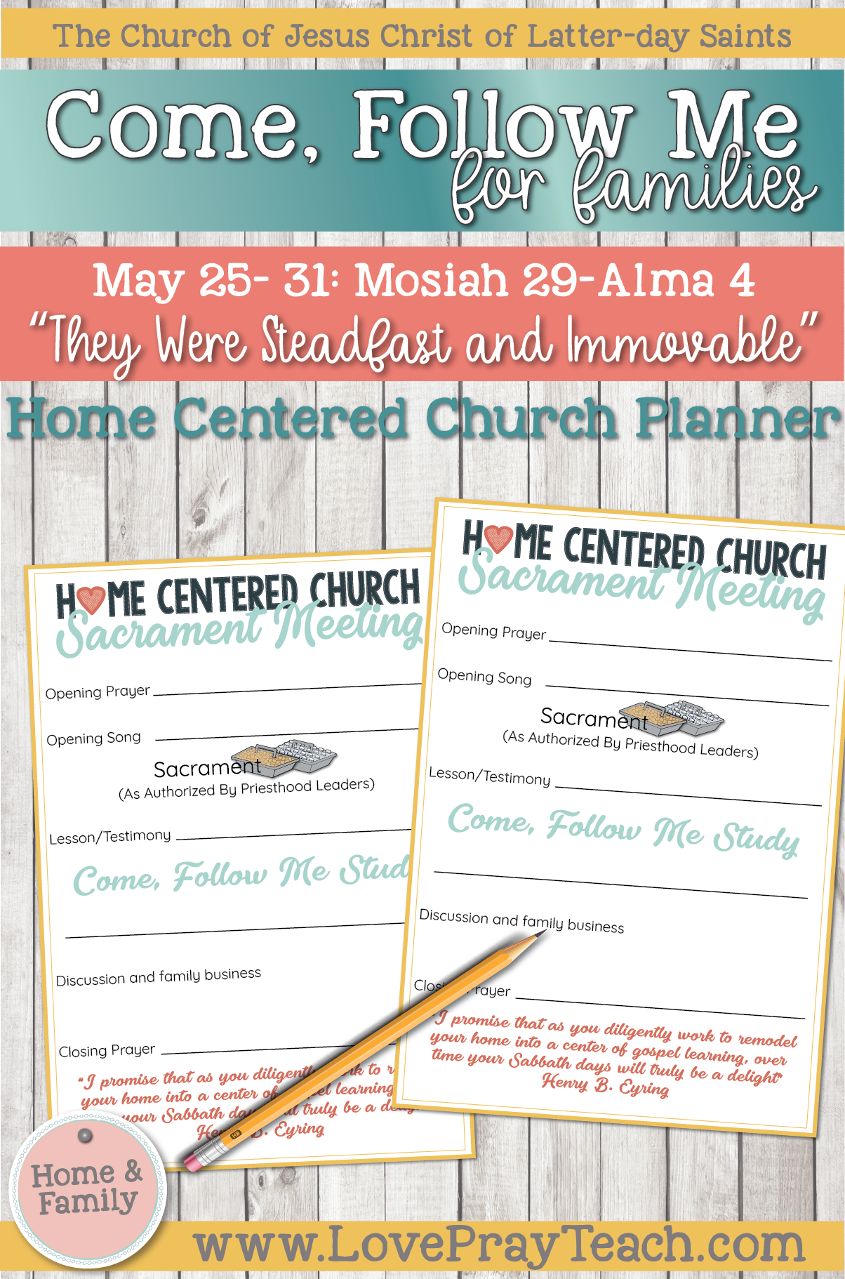 """Come, Follow Me—For Individuals and Families: Book of Mormon 2020 -May Week 5 -May 25– 31 Mosiah 29-Alma 4 """"They Were Steadfast and Immovable"""""""