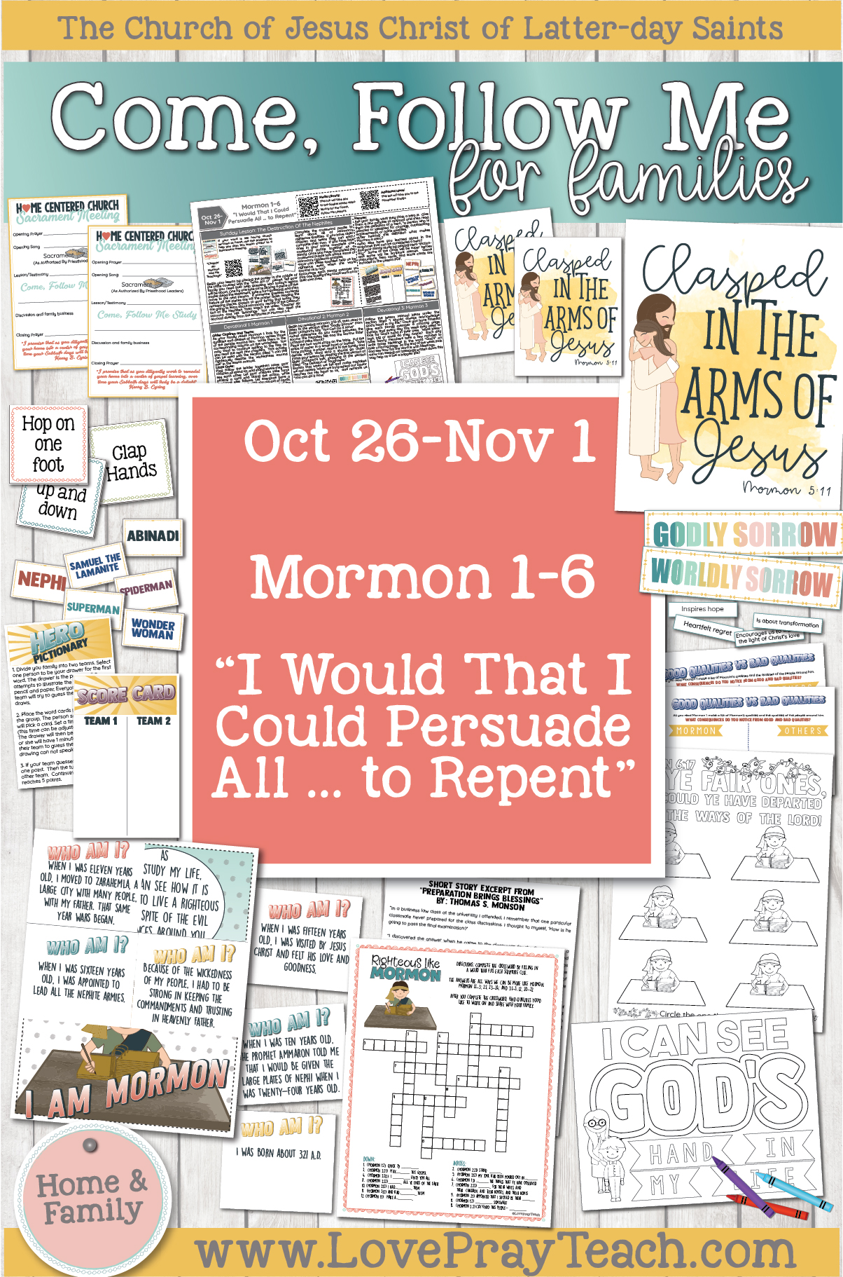 "Come, Follow Me—For Individuals and Families: Book of Mormon 2020 -November Week 1-October 26-November 1 Mormon 1-6 ""I Would That I Could Persuade All … to Repent"""
