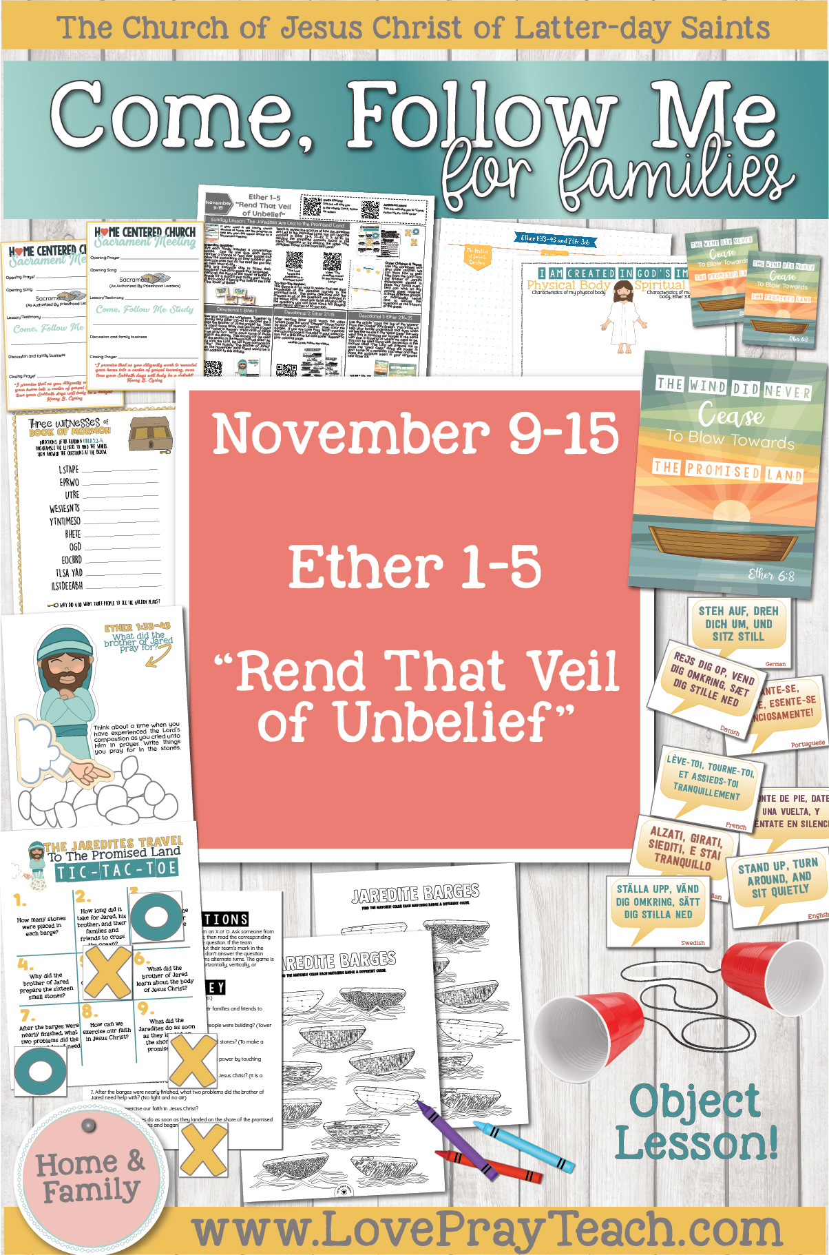 """Come, Follow Me—For Individuals and Families: Book of Mormon 2020 -November Week 3-November 9-15, Ether 1-5 """"Rend That Veil of Unbelief"""""""