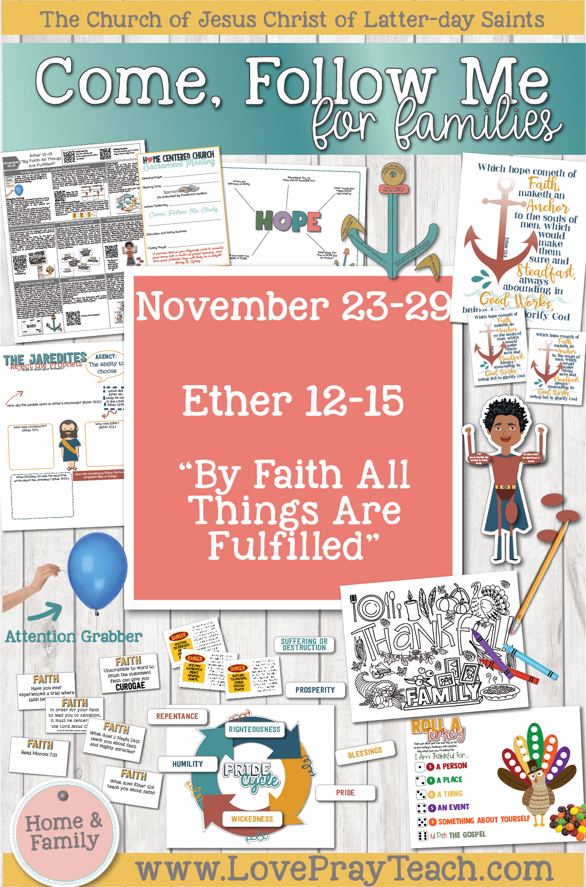 "Come, Follow Me—For Individuals and Families: Book of Mormon 2020 -November Week 5-November 23-29, Ether 12-15 ""By Faith All Things Are Fulfilled"""