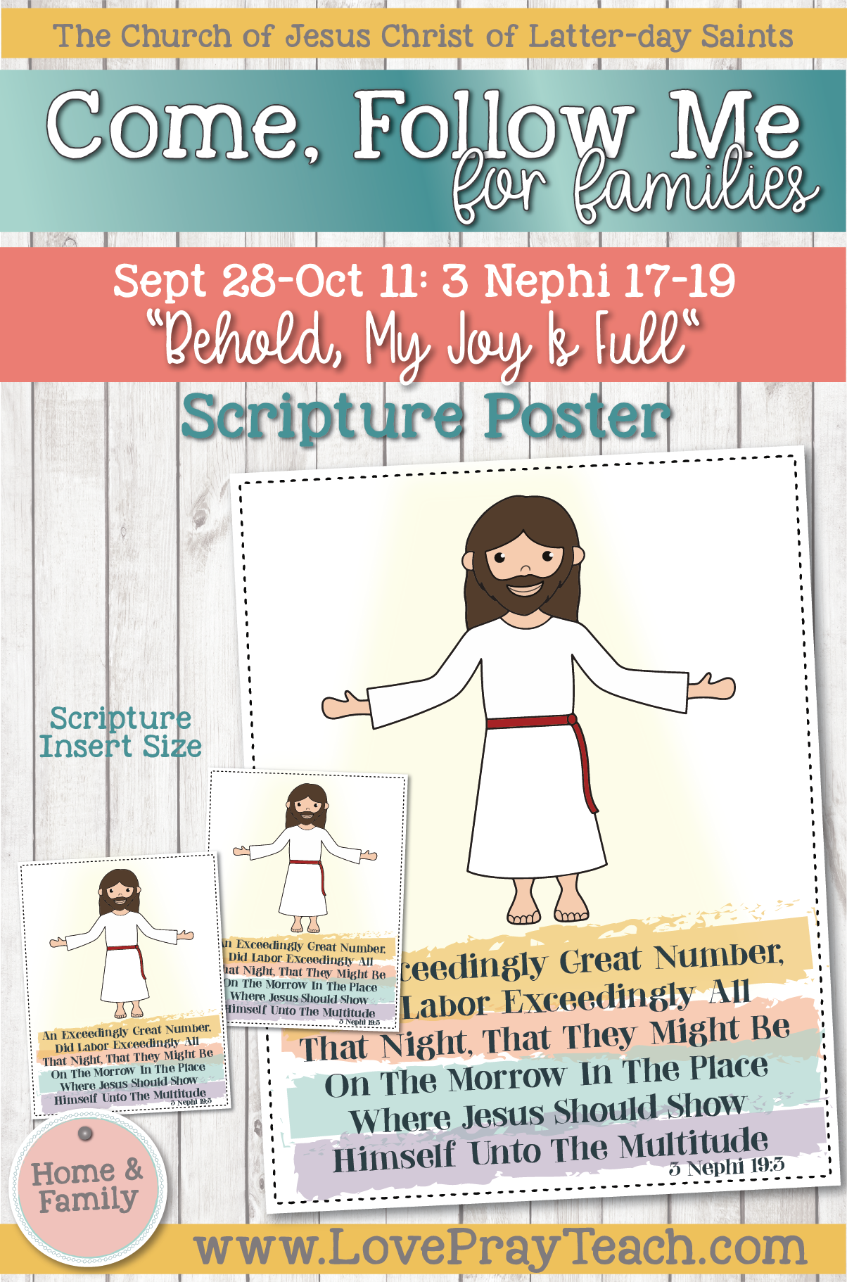 """Come, Follow Me—For Individuals and Families: Book of Mormon 2020 -October Week 1,2-September 28-October 11 3 Nephi 17-19 """"Behold, My Joy Is Full"""""""