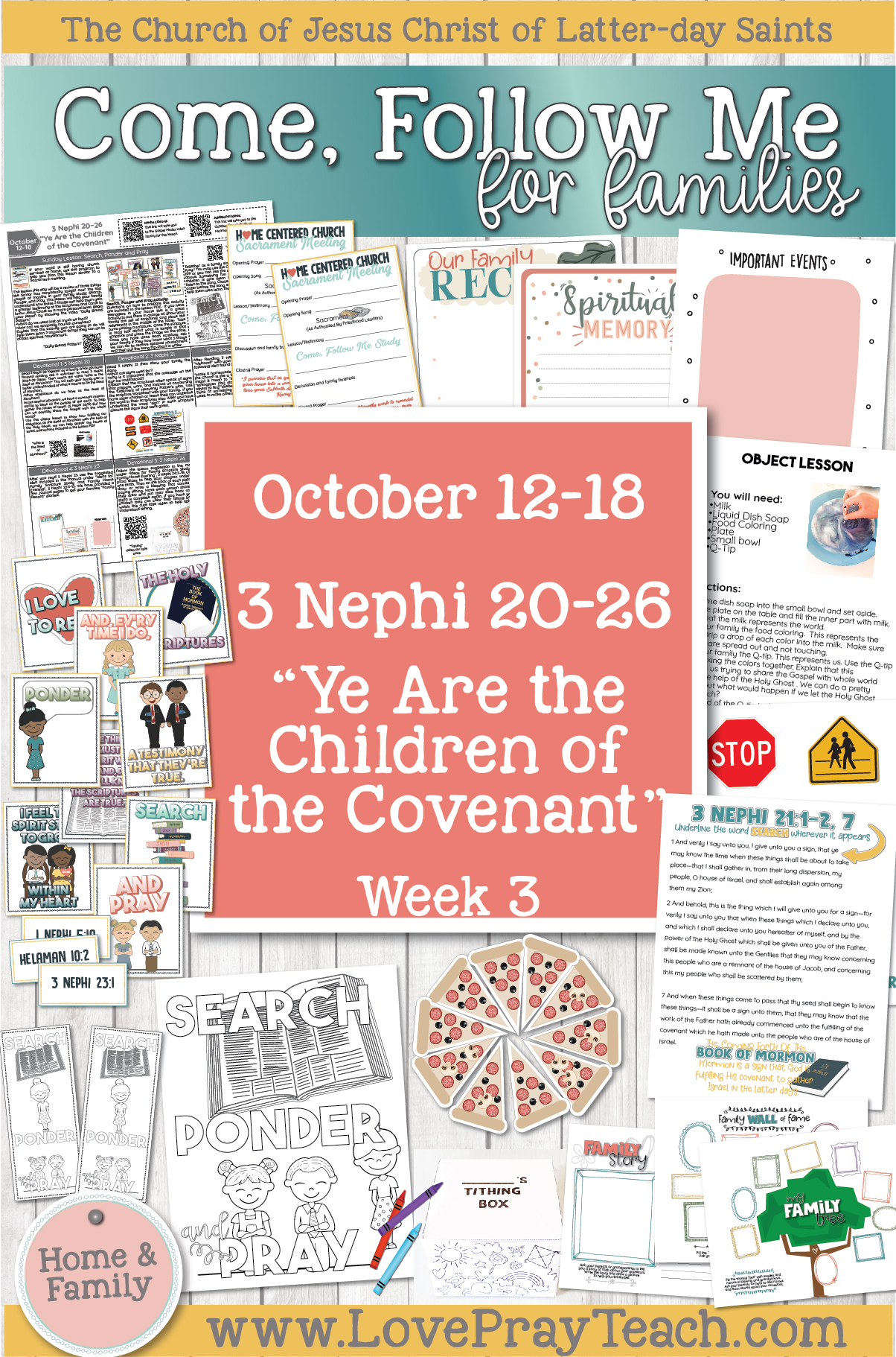"Come, Follow Me—For Individuals and Families: Book of Mormon 2020 -October Week 3-October 12-18 3 Nephi 20-26 ""Ye Are the Children of the Covenant"""