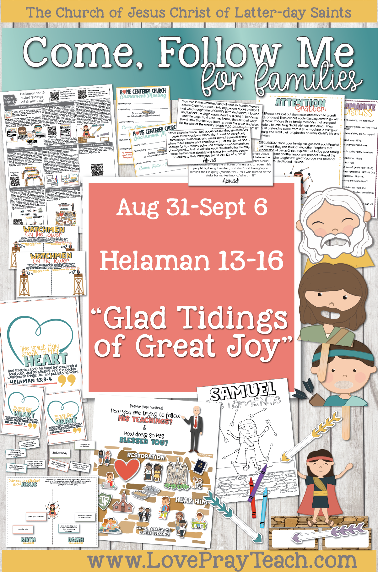 "Come, Follow Me—For Individuals and Families: Book of Mormon 2020 -September Week 1 - August 31-September 6 Helaman 13-16 ""Glad Tidings of Great Joy"""
