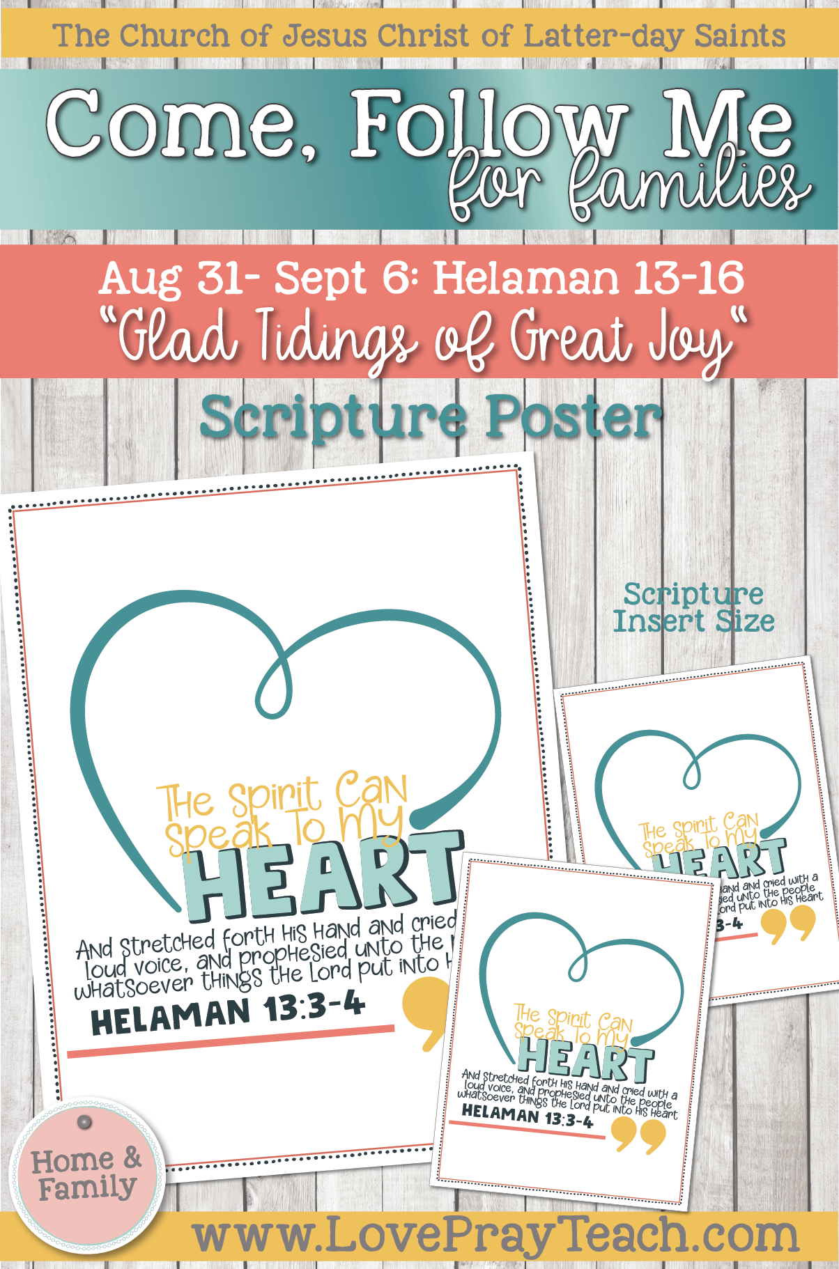"""Come, Follow Me—For Individuals and Families: Book of Mormon 2020 -September Week 1 - August 31-September 6 Helaman 13-16 """"Glad Tidings of Great Joy"""""""