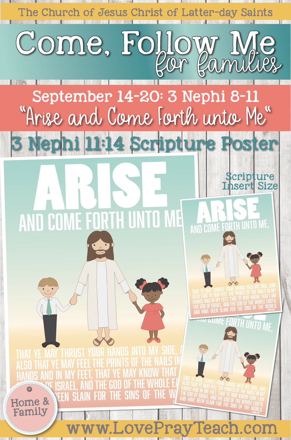 """Come, Follow Me—For Individuals and Families: Book of Mormon 2020 -September Week 3 - September 14-20 3 Nephi 8-11 """"Arise and Come Forth unto Me"""""""