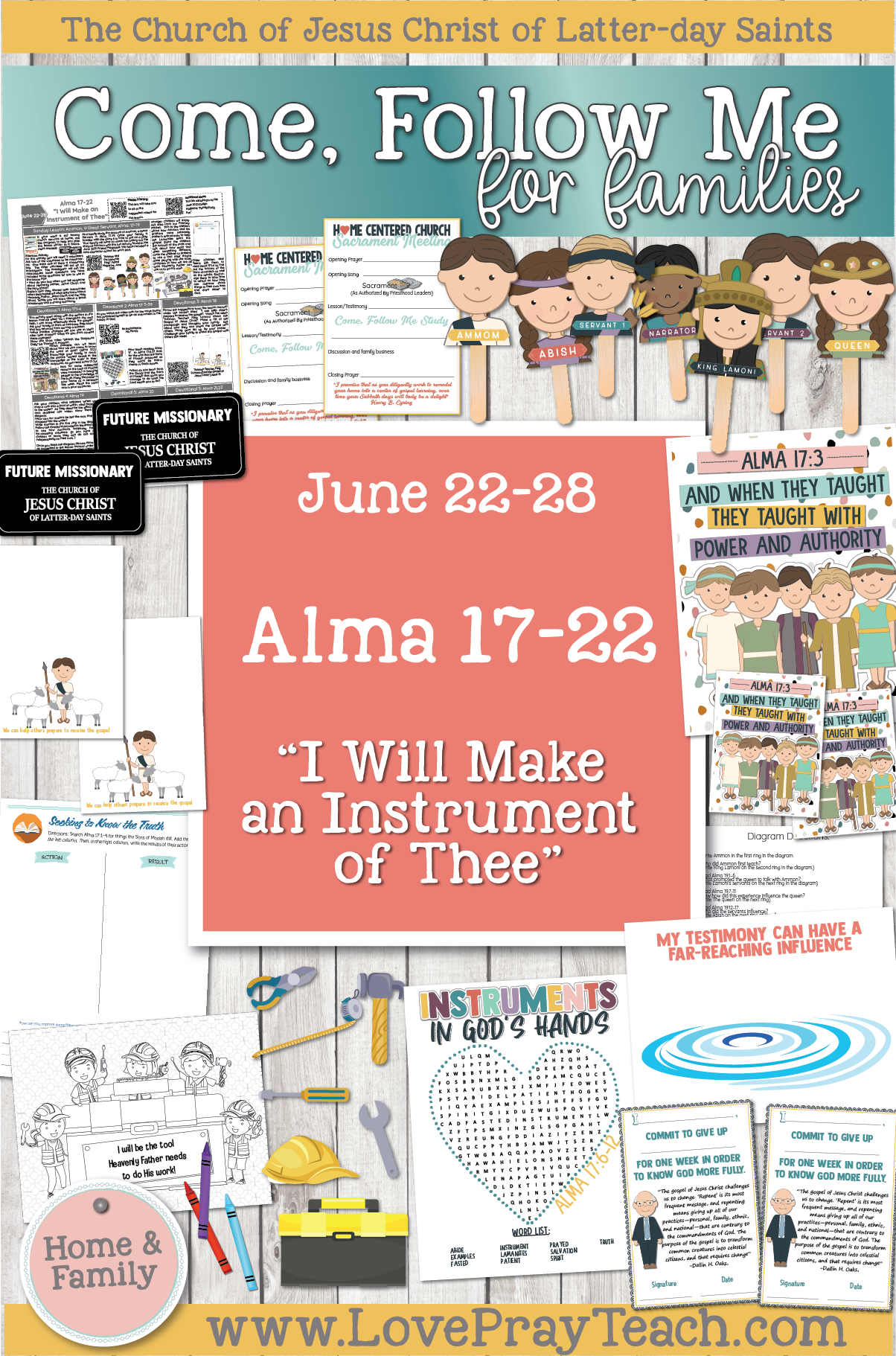 "Come, Follow Me—For Individuals and Families: Book of Mormon 2020 -June Week 4 -June 22– 28 Alma 73-22 ""I Will Make an Instrument of Thee"""